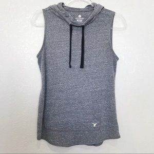 Old Navy Active gray hooded sleeveless top